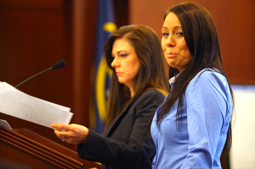 Jamie Waite attends her sentencing Friday, April 12, 2013 at 2nd District Court in Ogden. (Nick Short photo)
