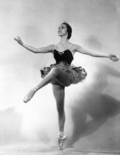 "FILE - This 1951 file photo shows ballet dancer Maria Tallchief of the New York City Ballet. Tallchief died Thursday, April 11, 2013, in Chicago at the age of 88. She joined the company that would become the New York City Ballet in 1948 and was married for a time to George Balanchine, who founded the School of American Ballet in New York. Tallchief worked with Balanchine on such masterpieces as 1949's ""Firebird"" and his now-historic version of ""The Nutcracker."" (AP Photo, file)"