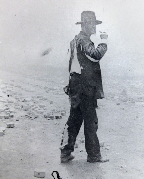 (Salt Lake Tribune Archive)  Dr. Edward P. LeCompte was singed up the back while helping to fight the Park City fire of 1898.