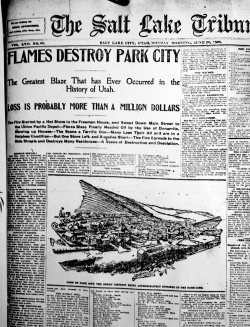 (Salt Lake Tribune Archive)  Front page of The Salt Lake Tribune June 20, 1898.