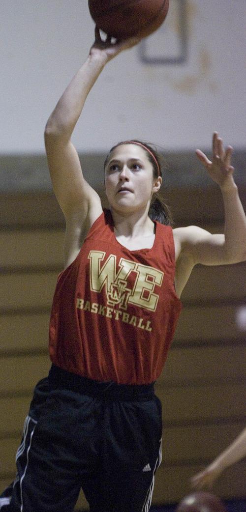 Paul Fraughton      Salt Lake Tribune Judge High School junior Kailie Quinn averaged 20 points and 12.8 rebounds per game this season.