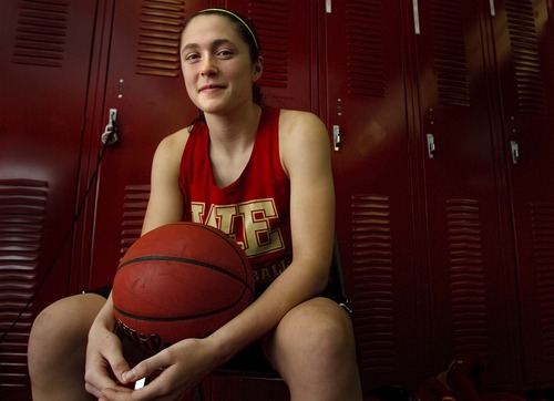 Leah Hogsten  |  The Salt Lake Tribune Judge High School junior Kailie Quinn averaged 20 points and 12.8 rebounds per game this season.
