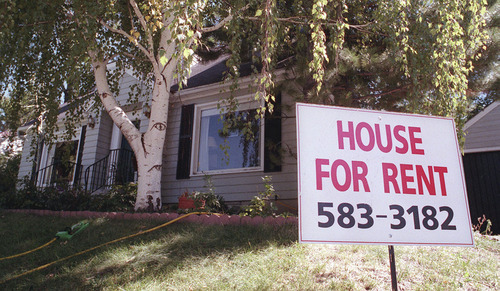 Tribune/File photo The Census figured that median rent nationally in 2011 was $871 a month --or $12 higher than its estimate for Salt Lake.