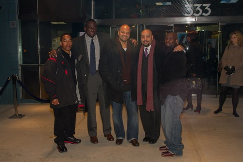 Left to right: Korey Wise, Yusef Salaam, Kevin Richardson, Raymond Santana and Antron McCray taken Nov. 15, 2012. Courtesy of Simon Luethi