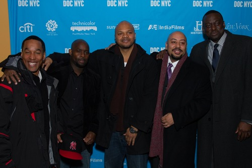 Left to right: Korey Wise, Antron McCray, Kevin Richardson, Raymond Santana and Yusef Salaam taken Nov. 15, 2012. Courtesy of Simon Luethi