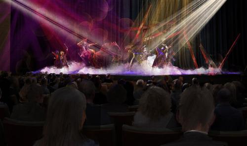 Renderings of the Utah Performing Arts Center