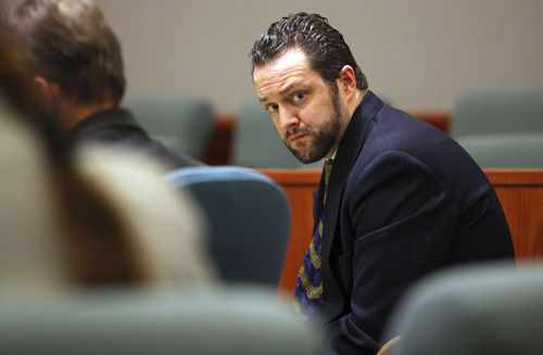 Nathan Sloop attends the final day of his preliminary hearing in the death of Ethan Stacy at Second District Court Friday, April 19, 2013 in Farmington, Utah.  (NICK SHORT/Standard-Examiner)