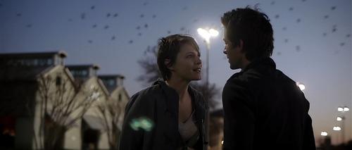 "Kris (Amy Seimetz, left) and Jeff (Shane Carruth) fall in love under unusual circumstances in ""Upstream Color.""  Courtesy Sundance Institute"