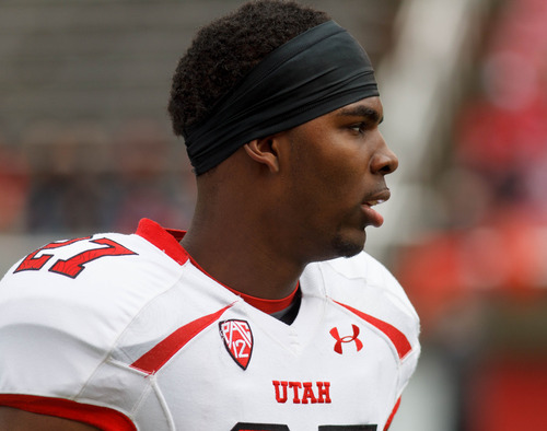 Trent Nelson  |  The Salt Lake Tribune Tyron Morris-Edwards during the University of Utah's Red-White Spring football game, Saturday April 20, 2013 in Salt Lake City.