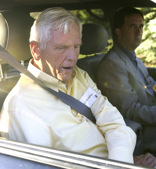 Douglas C. Pizac | Associated Press file photo Earl Holding, owner of Sun Valley Resort, Sinclair Oil and a hotel chain, arrives at the annual Allen & Co. media conference Saturday, July 12, 2003, in Sun Valley, Idaho.