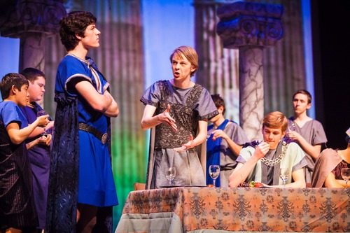 """Courtesy Doug Carter Students at Hillcrest High School perform in a production of Shakespeare's """"Troilus and Cressida."""" The play was the highest-grossing production in school history."""