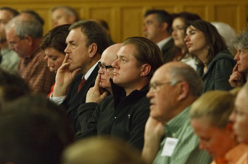 Leah Hogsten     The Salt Lake Tribune Sugar House residents packed City Hall by the hundreds to give their opinions to the Salt Lake City Council regarding a future extension of the Sugar House Streetcar, April 23, 2013.