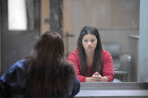 """This publicity photo provided by Pantelion Films shows Gina Rodriguez as Filly Brown in a scene from the film, """"Filly Brown."""" The film releases on April 19, 2013. (AP Photo/Pantelion Films/Lionsgate, John Castillo)"""