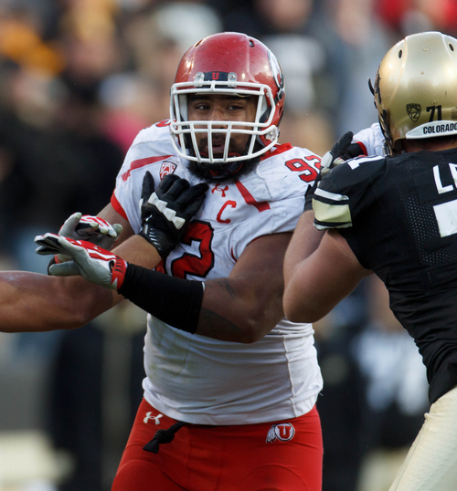 Trent Nelson  |  The Salt Lake Tribune Utah Utes defensive tackle Star Lotulelei (92) in action as the Colorado Buffaloes host the University of Utah Utes, college football Friday November 23, 2012 in Boulder.
