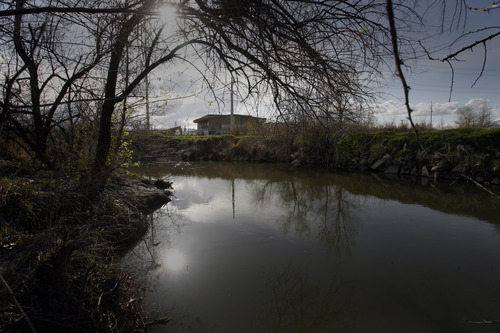 Rick Egan  |  The Salt Lake Tribune West Valley City is planning to build a suspension bridge connecting the Jordan River Trail on the east side of the waterway to the Utah Cultural Celebration Center at 1355 W. 3100 South on the west side. A master plan calls for the future development of a park along the west bank in the area.