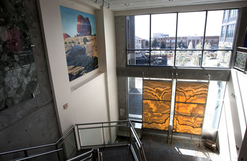 Steve Griffin     The Salt Lake Tribune Geology and geophysics students and professors at the University of Utah don't want a parking garage next to the Frederick Albert Sutton Building. They say it will diminish the eco-friendly building's teaching mission if a garage is squeezed into the already crowded area.