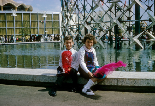 "This photo provided by the family shows siblings Benjamin and Nancy Dreyer at the 1964-65 World's Fair in the Queens borough of New York. Nancy, a lesbian, says she has noticed the different ways society treats gay men and lesbians, partly because Benjamin is gay. The two say it's difficult to compare their experiences because he came out in college, and she in her early 30s. So he was the first to tell their parents. ""They yelled at me. They took you to dinner,"" Benjamin Dreyer, who's 54 and works in publishing in New York City, now jokes with his sister. (AP Photo/Nancy Dreyer)"