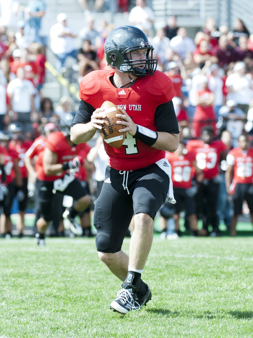 Courtesy photo  SUU quarterback Brad Sorensen enjoyed a success senior season with the Thunderbirds last year. The list of candidates to replace him is a lengthy one.