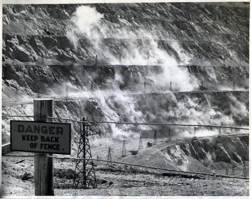 "Tribune file photo  A handwritten note on the back of this1939 photo says: ""Blasting at Bingham."""