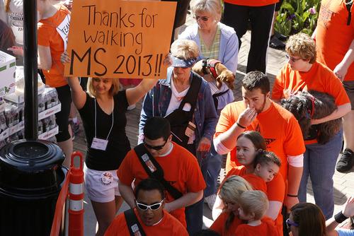 Scott Sommerdorf   |  The Salt Lake Tribune Thousands of people took part in the Salt Lake City MS Walk, Saturday, April 27, 2013.