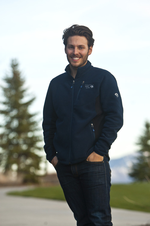 Chris Detrick  |  The Salt Lake Tribune Summit Founder Elliot Bisnow poses for a portrait at the Pineview Lodge in Eden Thursday April 18, 2013.