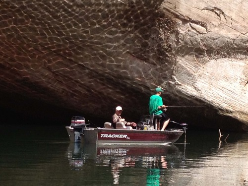 | Courtesy photo Colorado father and son, Terry and Austin Kimber, enjoy one more Lake Powell fishing trip together before Austin heads off to college. Fishing as a family at Lake Powell results in treasured memories that last a lifetime.