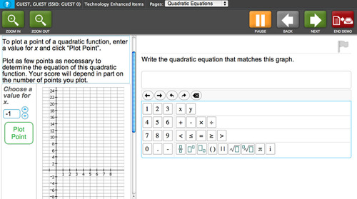 This is an example of what a math question might look like on one of Utah's new SAGE computer-adaptive tests. The questions will often ask students to demonstrate knowledge rather than providing multiple choices.