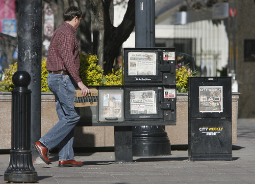 Rick Egan  | The Salt Lake Tribune  Total readership of printed newspapers is slipping across the U.S, but the mobile audience is growing rapidly, especially among younger readers,