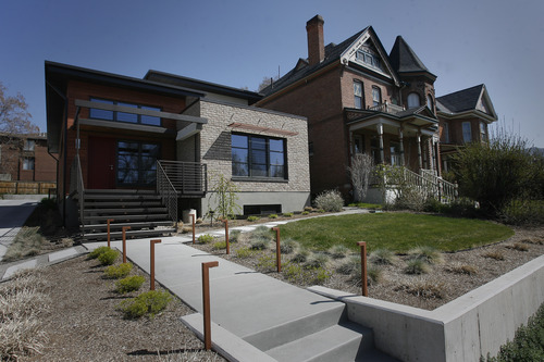 Rick Egan    The Salt Lake Tribune   Energy efficient home designed by Architect Dave Brach. The Salt Lake City house is only the second in Utah to be given the certification that it is totally green and energy efficient. Friday, April 26, 2013.