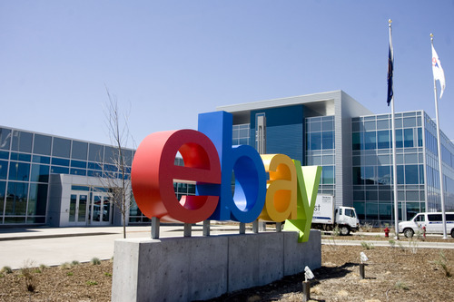 Kim Raff  |  The Salt Lake Tribune The front entrance of eBay's new green certified building in Draper on May 2, 2013.