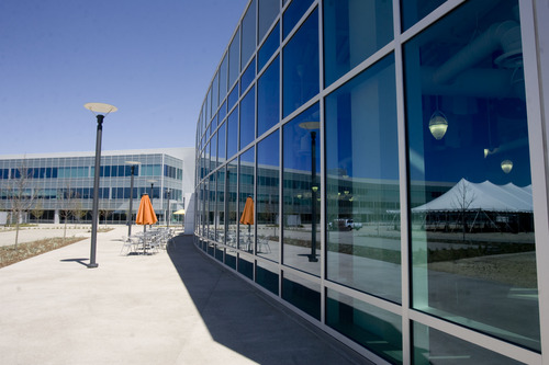 Kim Raff  |  The Salt Lake Tribune A view of the southwest facing side of eBay's new green certified building in Draper on May 2, 2013.