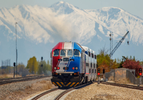 Trent Nelson  |  The Salt Lake Tribune UTA's FrontRunner commuter train pulls into the Lehi Station Thursday, May 2, 2013 in Lehi.
