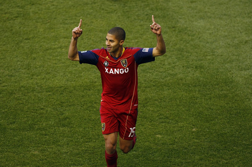 Tribune file photo Alvaro Saborio has scored three of RSL's seven goals, but is out for several weeks with a quad injury.
