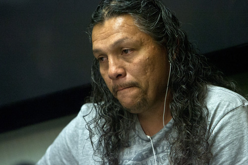 Chris Detrick  |  The Salt Lake Tribune Pedro Lopez, Ricardo Portillo's brother-in-law, listens during a press conference at Intermountain Medical Center in Murray Thursday May 2, 2013. Portillo died Saturday night, May 4.