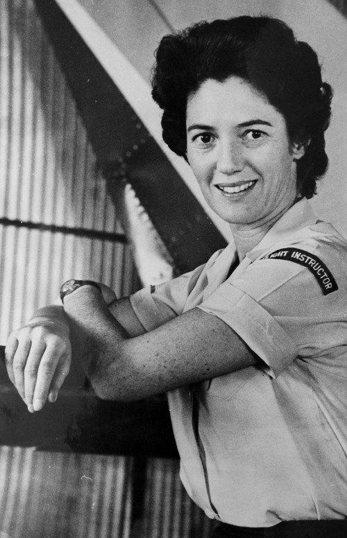 Photo courtesy of Betty Miller Betty Miller was the first woman to fly solo across the Pacific Ocean in 1963.
