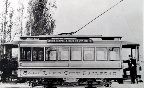 (Salt Lake Tribune Archives)  The Salt Lake City Railroad trolley that operated along Main Street between South Temple and 300 South.