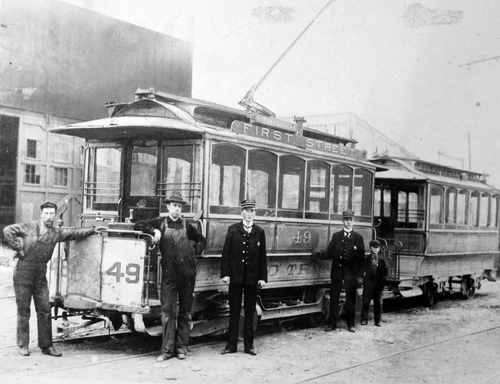 (Salt Lake Tribune Archives)  In 1897, the Rapid Transit Co. operated trolleys to Ft. Douglas, Murray, Rio Grande depot and the state prison in Sugar House.