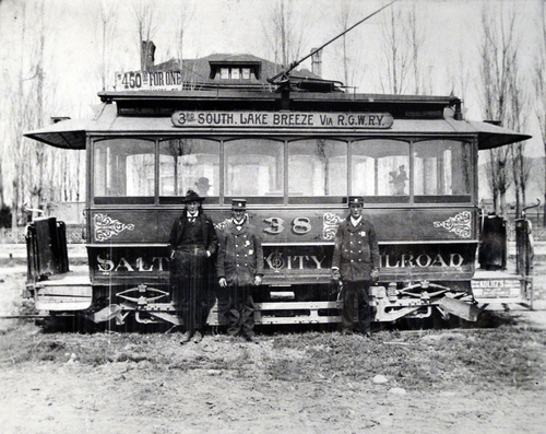 (Salt Lake Tribune Archives) It took a a conductor and a motorman to operate a trolley. The conductor took the fares, called streets and helped the elderly on and off the trolley. It was the motorman's job to work the brakes and switch tracks.