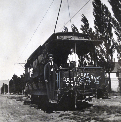 (Salt Lake Tribune Archives)  The summer trolley of the Salt Lake Rapid Transit Co. During this time period in Salt Lake, there were many competing trolley companies.