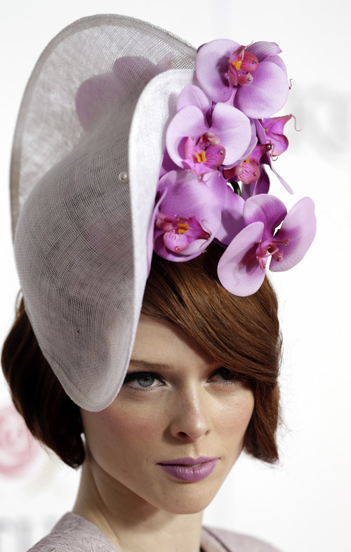 Model Coco Rocha arrives to attend the 139th Kentucky Derby at Churchill Downs Saturday, May 4, 2013, in Louisville, Ky. (AP Photo/Darron Cummings)