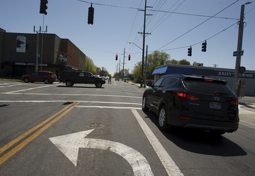 Leah Hogsten     The Salt Lake Tribune The corner of 1100 East and 1700 South, Thursday, May 2,2013.