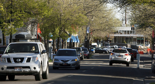 Leah Hogsten     The Salt Lake Tribune 1100 East and 2100 South -- a potential route for the Sugar House Streetcar, Tuesday, April 30,2013.