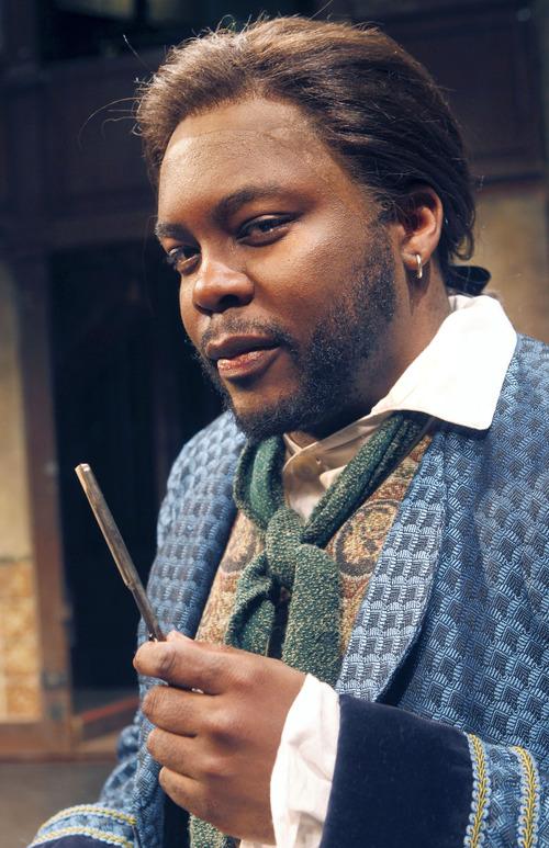 "Al Hartmann  |  The Salt Lake Tribune Utah Opera presents Rossini's comedy ""The Barber of Seville.""  Will Liverman as Figaro."