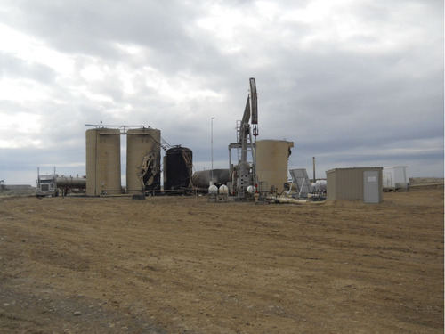 An oil well exploded May 7, 2013, in Uintah County, killing one man and injuring two others. Photo courtesy Uintah County Sheriff's Office.