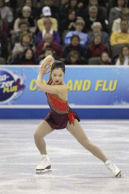 Salt Lake City's Angela Wang at the 2013 U.S. Figure Skating Championships in Omaha. She's shooting for the 2018 Winter Olympic Games. Courtesy Jay Adeff/U.S. Figure Skating