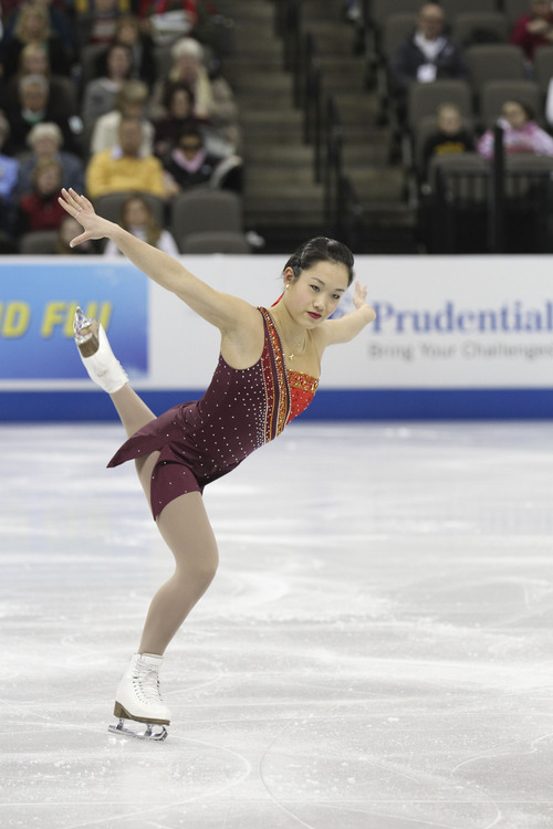 Angela Wang from the 2013 U.S. Figure Skating Championships in Omaha. Courtesy Jay Adeff/U.S. Figure Skating