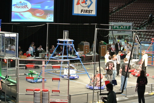 Courtesy   Hillcrest High Husky Robotics Team  Student members of the Hillcrest High Husky Robotics Team compete at the Utah regional competition at the Maverik Center on March 21 through 23. The team won the Rookie All Star Award, which qualified them for the World Championship in St. Louis held April 23-26.