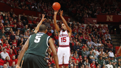 Nebraska basketball player Ray Gallegos, formerly of West Jordan, enjoyed a breakout season in the Big Ten, leading the conference in minutes played. Courtesy | Scott Bruhn
