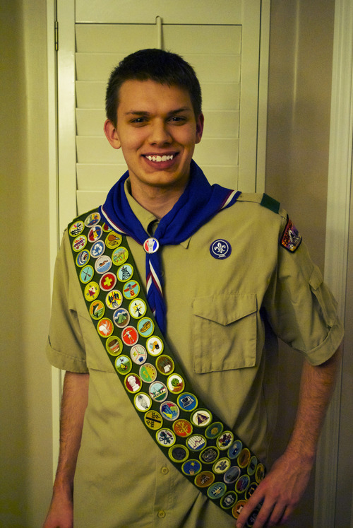 Courtesy Pam Davis Matt Davis, who earned his Eagle Scout in 2009, continued working on merit badges up to his 18th birthday. He was able to earn all 134, and said the experience has broadened his interests.
