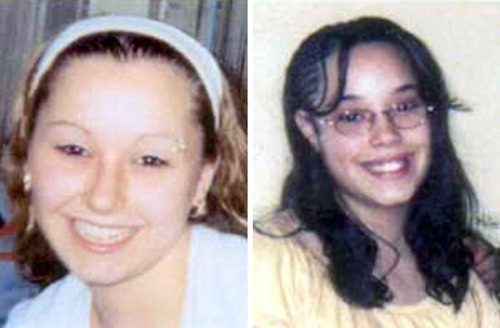"""FILE - These undated file handout photos provided by the FBI show Amanda Berry, left, and Georgina """"Gina"""" Dejesus. For DeJesus, Berry and Michelle Knight, who were freed from captivity inside a Cleveland house on Monday, May 6, 2013, the ordeal is not over. Next comes recovery _ from sexual abuse and their sudden, jarring reentry into a world much different than the one they were snatched from a decade ago. (AP Photo/FBI, File)"""